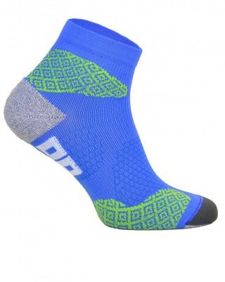 Skarpety biegowe RUNNING RAID kolorowe, oddychające, płaskie szwy - niebieski
