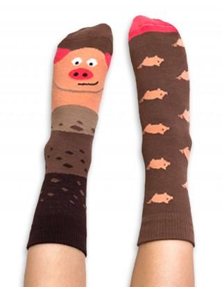 Skarpety kolorowe dla dzieci świnka - Piggy - Piggy