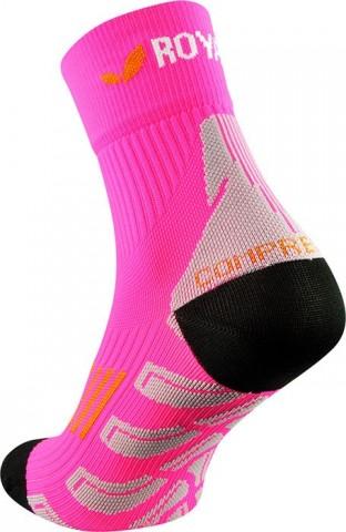 Skarpety sportowe idealne do biegania ROYAL BAY (ponad kostkę) Classic HIGH-CUT różowe - różowy