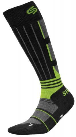 Skarpety narciarkie dla dzieci JJW Ski deodorant antybakteryjne - czarny i zielony