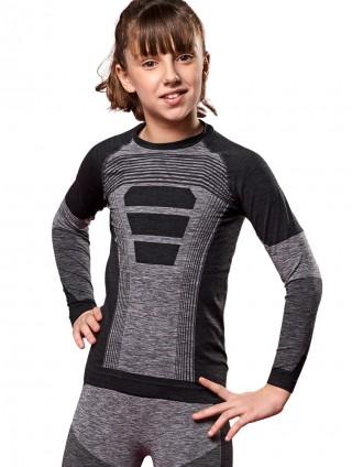 Dziecięca koszulka termoaktywna Slalom E5, z długim rękawem na zimę  - różnokolorowe
