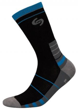 Skarpetki SPORT DEODORANT NEW, sportowe, idealne na co dzień, Bawełna - czarno-niebieski