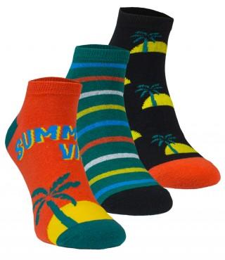 Kolorowe STOPKI Wild Feet - Summer Vibes - 3 pary !!! - S3053-Summer Vibe