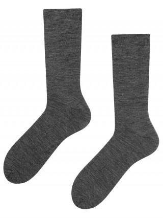 Skarpety biznesowe wełniane 45% Merino Wool - szary