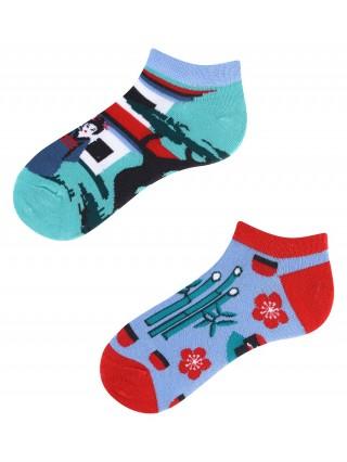 Stopki, Tanuki Kids Low, Todo Socks, Japonia, Azja, Orient, Kolorowe Dziecięce  - Japan Kids Low
