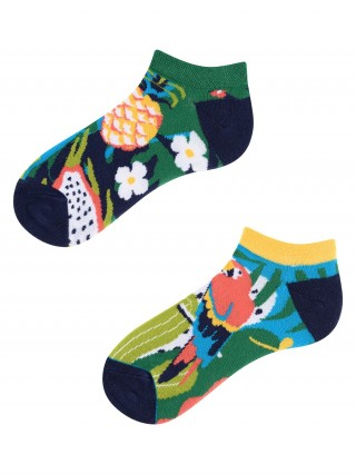 Stopki, Papaya Kids Low, Todo Socks, Papuga, Ananas, Liczi, Kolorowe Dziecięce  - Tropical Kids Low