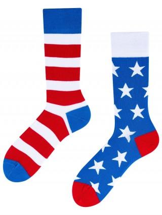 Americano To Go, Todo Socks, Ameryka, Amerykańskie, Paski, Kolorowe Skarpety - Americano To go