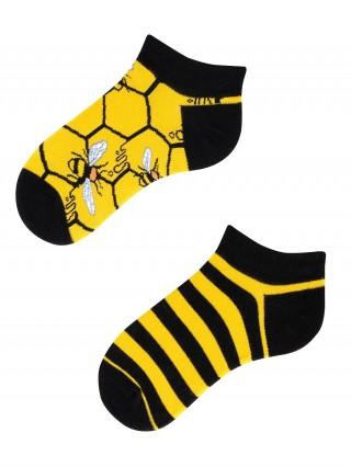 Stopki, Bee Bee Kids Low, Todo Socks, Pszczoły, Kolorowe Dziecięce  - różnokolorowe
