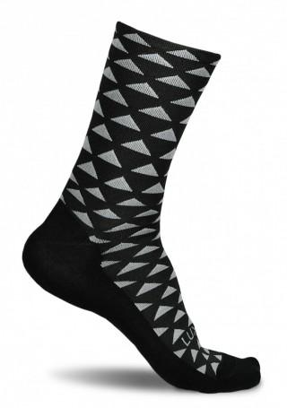 Profesjonalne skarpety kolarskie TRIANGLE JUNGLE - czarne w trójkąty - Triangle Jungle