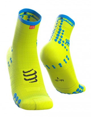 Kompresyjne skarpety biegowe Racing Socks V3.0 Run Hi Fluo Yellow - Fluo Yellow