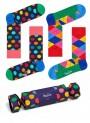 Zestaw prezentowy Happy Socks 2pary CRACKER XBDO02-6500 KROPKI - XBDO02-6500