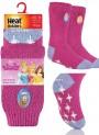 Najcieplejsze skarpety KSIĘŻNICZKI DISNEY'a - Antypoślizgowe ABS dla dzieci  - Księżniczki-Fuksja